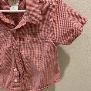 GAP Shirts & Tops - Baby gap Collared button up short sleeve shirt